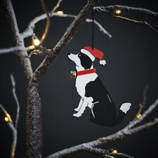 Border Collie Christmas Tree Decoration/Ornament Bauble Gift/Present Dog
