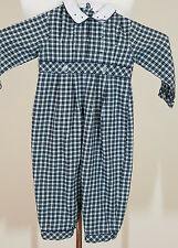 Girls Carriage Boutiques  Holiday Green Plaid Portrait Longall 18 Months 18M