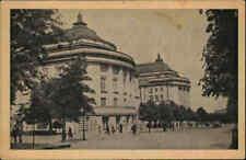 REVAL Tallinn Postcard ~1930 alte Postkarte Partie am Estonia-Theater, Estland