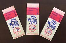 1978 WORLD SERIES TICKETS GAMES 3, 4 AND 5. YANKEE STADIUM. YANKS SWEEP THREE.