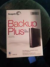 Seagate Backup Plus 2TB for Mac WORKS GREAT *READ DESCRIPTION*