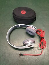 Beats by Dr. Dre Solo Headphones ~ White Wired w/ Carrying Case