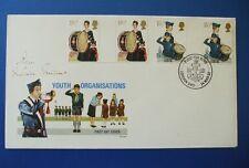 1982 actividades para jóvenes primer día cubierta Firmado Por Conde de Elgin, Brigada Presidente
