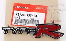 Honda Civic EP3 Si FRONT TYPE R EMBLEM JDM Genuine OEM 75732-S5T-E01 Badge 01 03