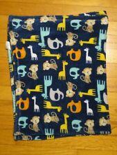 New listing Htf Baby Gear Blue Giraffe Elephant Monkey Baby Blanket/Lovey