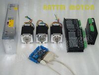 3 axis Nema23 Stepper Motor 270 oz-in 3A/1.8Nm&4.5A Driver CW5045 For CNC kit