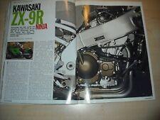 Mo revista 3445) kawasaki zx-9r ninja con 143ps en el ensayo en 4 páginas