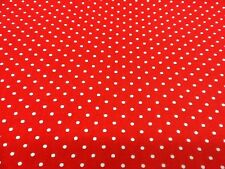 100% cotton polka dots fabric by the metre in Red