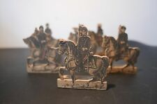 LOT DE 6 SOLDATS EN BOIS - CAVALIERS SECOND EMPIRE - JOUETS ANCIENS OLD TOYS