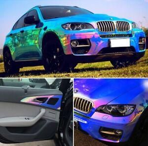 135x75cm DIY Holographic Neo Chrome Vinyl Car Wrap Decals Sticker Film Decal UK