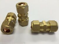 """3 X 8MM STRAIGHT 5/16""""CONNECTOR GAS FITTING caravan camper coupling compression"""