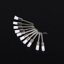 100PCS Dental Polishing Polisher Prophy Cup Brush Brushes Nylon Latch Flat Type