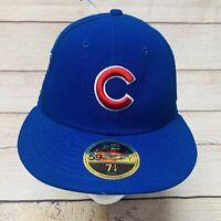 Chicago Cubs New Era 59FIFTY Low Profile Cap Hat Sz 7 1/4