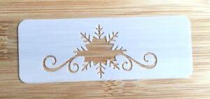 Face paint stencil reusable washable SNOWFLAKE FROZEN glitter henna tattoo