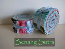 Batik 100% Cotton Fabric Quilter Jelly Roll 40pcs x 112cm x 6.35cm Pastel