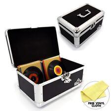 "Gorilla 7"" Singles Vinyl Record Box Storage Carry Case Holds 200 Black (Pair)"