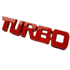 1x Hot Red 3D TURBO Word Letter Sport Sticker Car Metal Chrome Logo Emblem Decal