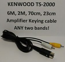 Kenwood TS-2000 VHF/UHF Amplifier keying relay cable 6M 2M 70cm 23cm TWO bands