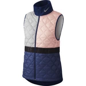 Nike Aerolayer Women's Size Medium Running Vest BV3869-697 Void/Atmosphere Grey