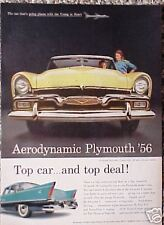1956 Plymouth Belvedere Convertible ORIGINAL Color Ad CMY STORE  5+= FREE SHIP