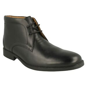WHIDDON MID MENS CLARKS LEATHER LACE UP SMART CASUAL CHUKKA ANKLE BOOTS SIZE