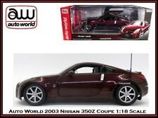 Auto World New Collectible 2003 Nissan 350Z Coupe 1:18 Scale Diecast Car