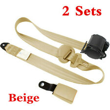 2 Car Seat Belt Gray 3 Point Safety Travel Adjustable Retractable Auto Universal