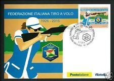 Federazione Italiana Tiro a Volo - Cartolina Filatelica Ufficiale Poste Italiane