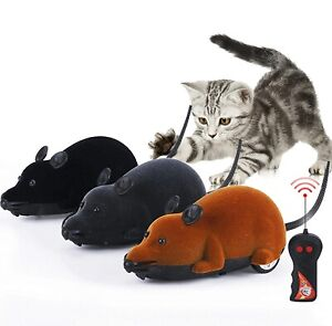 Remote Control Mouse Rat Mice Electronic Toy for Cat Puppy Pets Wireless Gift