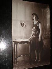 Old postcard art deco woman c1920s ref 38z(2)