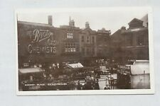 More details for postcard market place gainsborough lincolnshire posted postmark 1908 boots rp