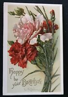 Pretty~Catherine Klein~ Carnation Flowers~ Antique Postcard-IAPC-c847