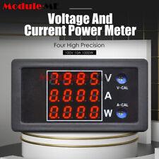 DC 0-100V 10A 1000W LCD Digital Voltage Current Power Meter Thermostat 8V 24V