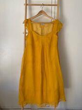 MAX&Co Yellow Silk Summer Dress Size 8