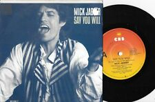 "MICK JAGGER - SAY YOU WILL - 7"" 45 VINYL RECORD w PICT SLV - 1987"