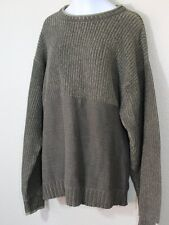 Columbia Green Olive Sweater Medium M Mens Cotton Crewneck EUC