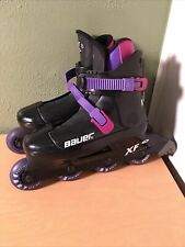 Bauer XF3 Roller Hockey RollerBlades In-line Skates Women's Sz8 Exercise Fitness