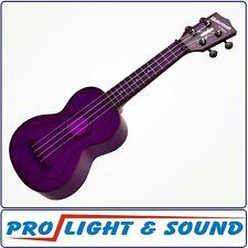 Kala Makala Soprano Waterman Ukulele,Fluorescent Purple Grape