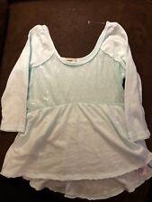 Girls Abercrombie Kids Scoop Neck Mint Green 3/4 Sleeve T Shirt Size Large