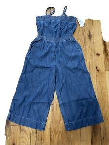NWT little girls Gap denim jumper sz xs 4/5