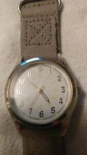 Face Watch Fmdm230 Free Shipping Pre Owned Merona Silver Tone White