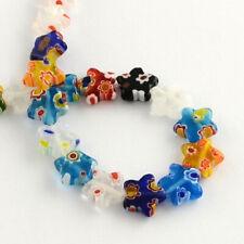 "Millefiori Lampwork Glass Beads Assorted Star 10mm 15"""