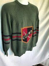 Vtg 1994 New Old Stock GOLF Bag Sweater Oakmont Green HAND INTARSIA U A Open