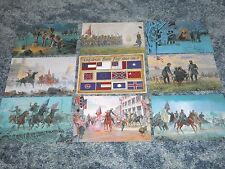 Lot of 9 Civil War cards, American History, United States, Flag --- Postcard Lot