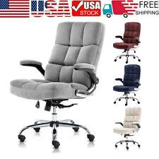 Velvet Office Chair Ergonomic Adjustable Tilt Angle Executive Computer Desk