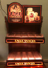 Vintage ANHEUSER BUSCH Eagle Snacks Advertising Lighted Sign Bar Working As Is