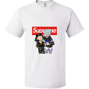 SUPREME RICK AND MORTY NEW T SHIRT NASA SCHWIFTY FUNNY ICONIC NETFLIX TEE