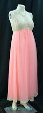 Claire Sandra By Lucie Ann Grecian Nightgown chiffon Sz 32 S M Peignoir New Vtg