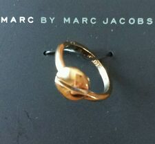 MARC BY MARC JACOBS GOLD SCREW RING, SIZE 6, 80096 SOLD OUT EVERY WHERE RARE NEW