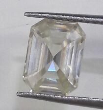 White Emerald Cut Loose Moissanite 4 Ring/Pendant 1.18 Ct 7.70 x 5.50 mm Vvs Off
